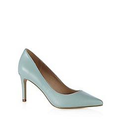 J by Jasper Conran - Designer light blue leather high heel court shoes