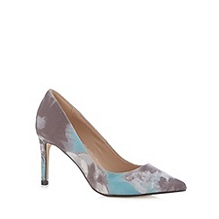 J by Jasper Conran - Designer grey print leather court shoes