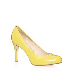 J by Jasper Conran - Designer lime textured patent high court shoes