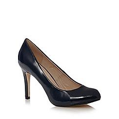 J by Jasper Conran - Designer navy textured patent high court shoes