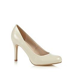 J by Jasper Conran - Designer off white crosshatch high court shoes