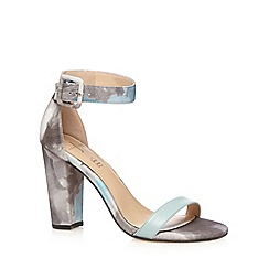 J by Jasper Conran - Designer light blue floral high sandals