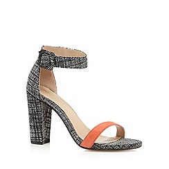J by Jasper Conran - Designer coral leather snake high sandals