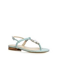 J by Jasper Conran - Designer light blue embellished leather sandals