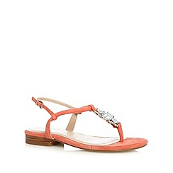 J by Jasper Conran - Designer coral embellished leather sandals