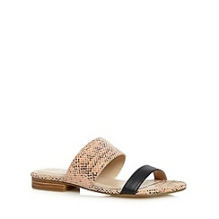 J by Jasper Conran - Designer pink leather two tone strap sandals