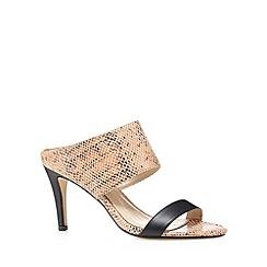 J by Jasper Conran - Designer pink snake strap high mules