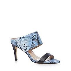 J by Jasper Conran - Designer light blue snake strap high mules