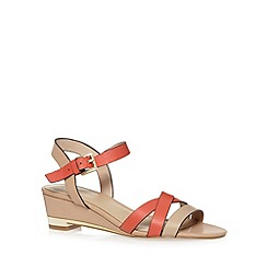 J by Jasper Conran - Designer taupe leather strappy sandals