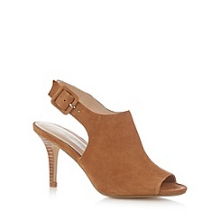 J by Jasper Conran - Designer camel suede slingback high court shoes