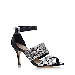 J by Jasper Conran - Designer black snake high sandals