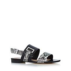 J by Jasper Conran - Designer black snake strap sandals