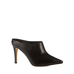 J by Jasper Conran - Designer black leather mule court shoes
