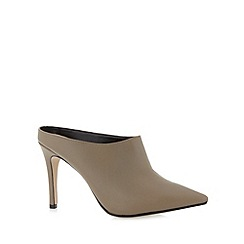 J by Jasper Conran - Designer taupe leather mule court shoes