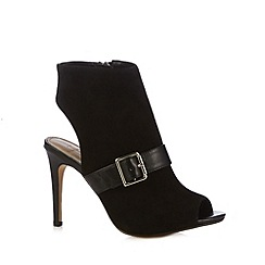 J by Jasper Conran - Designer black suede open back high shoe boots