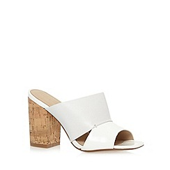 J by Jasper Conran - Designer white leather patent cork high sandals