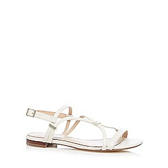 J by Jasper Conran - Designer off white snake effect strappy sandals