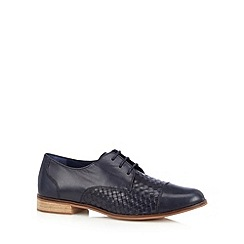RJR.John Rocha - Designer navy weave leather shoes