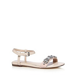 J by Jasper Conran - Designer light pink jewel sandals