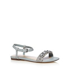 J by Jasper Conran - Designer light blue jewel sandals