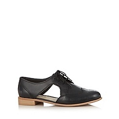 RJR.John Rocha - Designer black leather cutout shoes