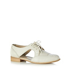 RJR.John Rocha - Designer off white leather cutout shoes