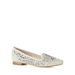 RJR.John Rocha - Designer grey laser cut leather slip ons