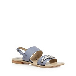 RJR.John Rocha - Designer pale blue jewelled sandals
