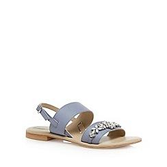 RJR.John Rocha - Designer pale blue jewelled sandals