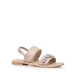 RJR.John Rocha - Designer natural leather stone flower strap sandals