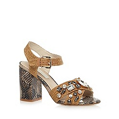 RJR.John Rocha - Designer natural stone trim high sandals