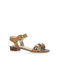 RJR.John Rocha - Designer natural stone trim mid sandals