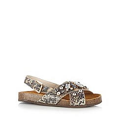 RJR.John Rocha - Designer natural leather snakeskin stone sandals
