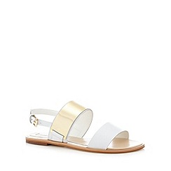 RJR.John Rocha - Designer white leather two tone sandals