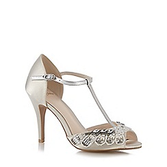 No. 1 Jenny Packham - Designer ivory diamante trim high sandals