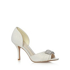No. 1 Jenny Packham - Designer ivory diamante court shoes