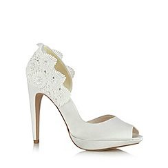 No. 1 Jenny Packham - Designer ivory crochet detail court shoes