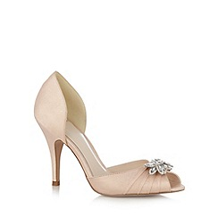 No. 1 Jenny Packham - Designer light peach diamante leaf high court shoes
