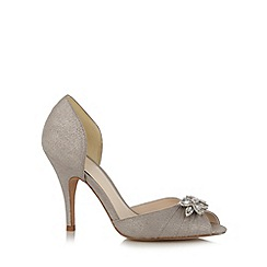 No. 1 Jenny Packham - Designer silver diamante leaf high court shoes
