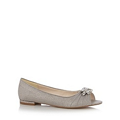 No. 1 Jenny Packham - Designer silver diamante leaf pumps