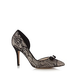 No. 1 Jenny Packham - Designer black lace high court shoes