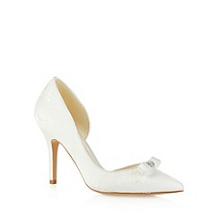 No. 1 Jenny Packham - Designer ivory lace bow detail high court shoes