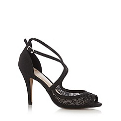 No. 1 Jenny Packham - Designer black studded peep toe high sandals