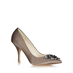 No. 1 Jenny Packham - Designer taupe jewel toe high court shoes