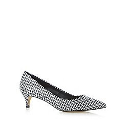 Principles by Ben de Lisi - Designer black weave mid heel court shoes