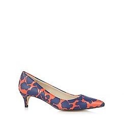 Principles by Ben de Lisi - Designer red floral mid heel court shoes