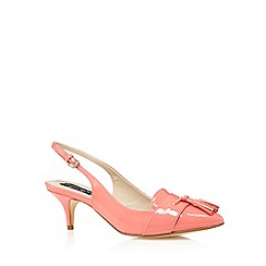Principles by Ben de Lisi - Designer pink patent tassel detail mid court shoes