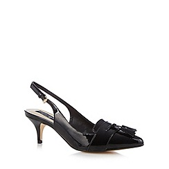 Principles by Ben de Lisi - Designer black patent tassel detail mid court shoes