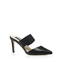 Principles by Ben de Lisi - Designer black mock croc high sandals