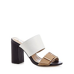 RJR.John Rocha - Designer white leather buckled high mule sandals